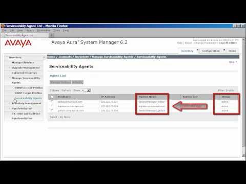 Configuring System Manager/Session Manager 6.2 To Send SNMPv2 Traps To The System Manager UI