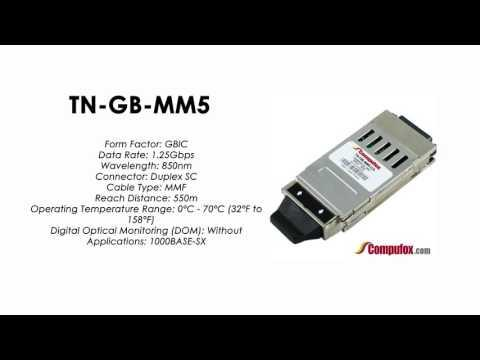 TN-GB-MM5     Transition Compatible 1000BASE-SX GBIC 850nm MMF 550m