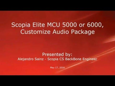 How To Customize Audio Package On Avaya Scopia MCU Elite 5000 Or 6000