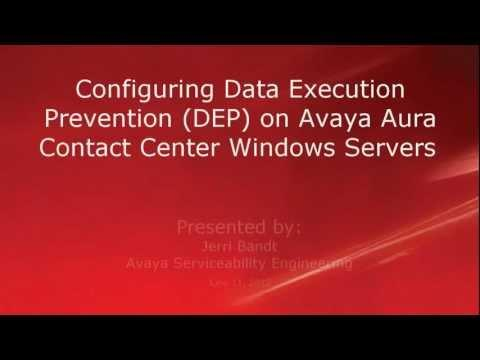How To Configure Data Execution Prevention On Avaya Aura Contact Center Windows Servers