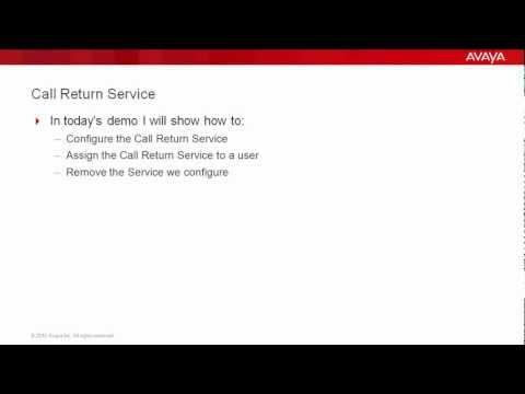 How To Configure Call Return Service In Avaya AS5300