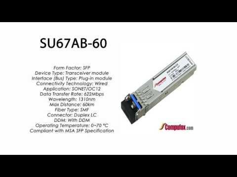 SU67AB-60  |  Marconi Compatible SFP 622Mbps 1310nm 60km DDM
