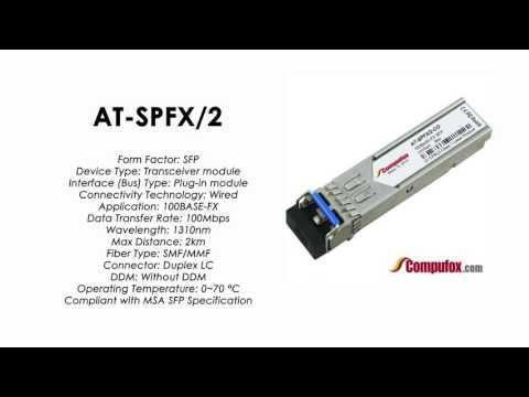 AT-SPFX/2  |  Allied Telesis Compatible 100Mbps 2km 1310nm SFP