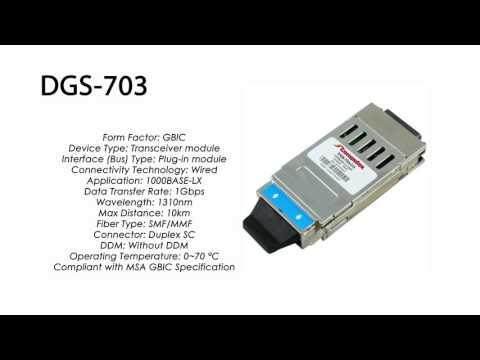 DGS-703  |  D-Link Compatible 1000BASE-LX GBIC 1310nm 10km