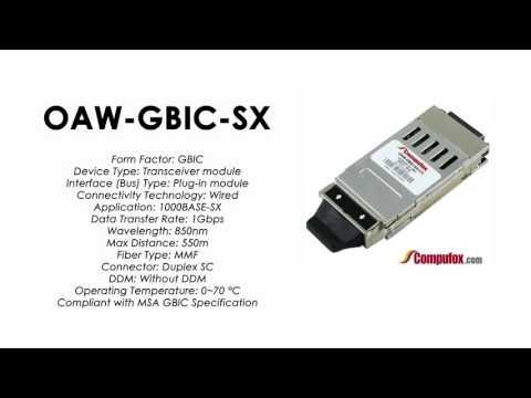 OAW-GBIC-SX  |  Alcatel Compatible 1000Base-SX 850nm 550m GBIC