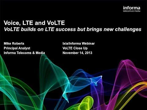 Ixia Webinar: VoLTE Up Close -- Five Essential Steps For Successful Deployments