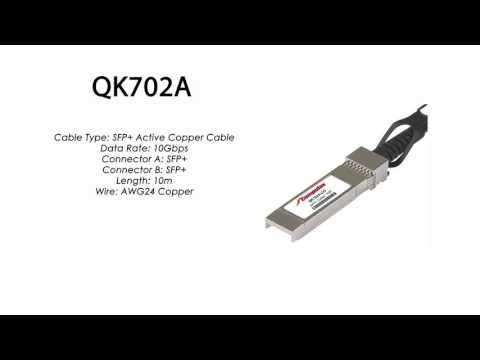 QK702A  |  HP Compatible SFP+ Active Copper Cable 10m