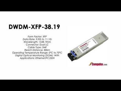 DWDM-XFP-38.19  |  Cisco Compatible 10GBASE-DWDM XFP 1538.19nm 80km