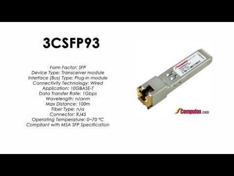 3CSFP93  |  3Com Compatible 1000BASE-T RJ45 100m SFP