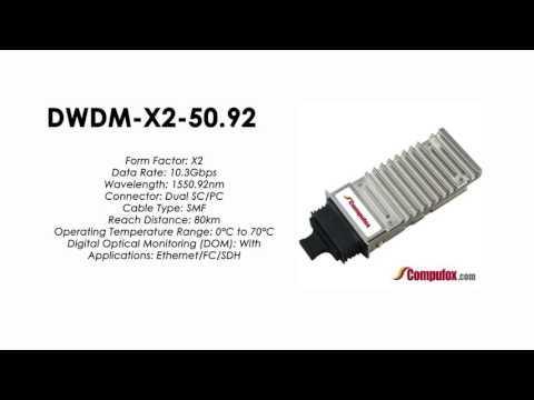 DWDM-X2-50.92     Cisco Compatible 10GBASE-DWDM X2 1550.92nm 80km