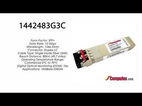 1442483G3C  |  Adtran Compatible 10GBase-DWDM 1544.53nm 80km SFP+