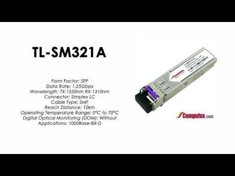 TL-SM321A  |  TP-Link Compatible 1000Base-BX Tx1550nm/Rx1310nm 10km SFP