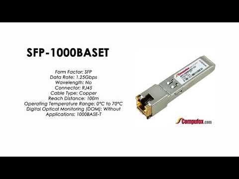 SFP-1000BASET  |  Huawei Compatible Copper SFP 1000BASE-T 100m RJ45