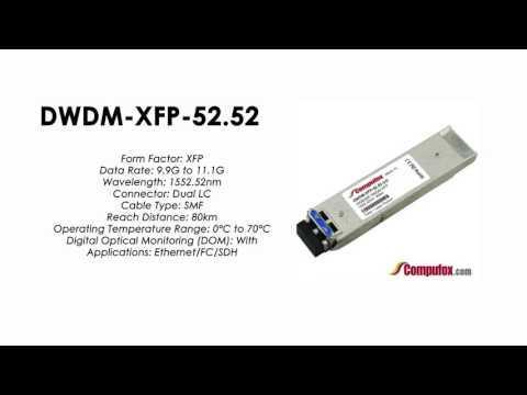 DWDM-XFP-52.52  |  Cisco Compatible 10GBASE-DWDM XFP 1552.52nm 80km