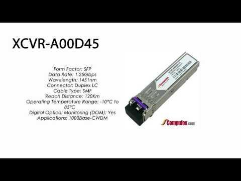 XCVR-A00D45     Ciena Compatible 1000Base CWDM ZXL 120km 1451nm SFP