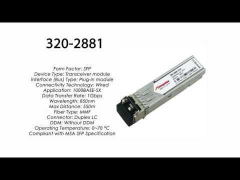 320-2881     Dell Compatible 1000Base-SX SFP 850nm 550m MMF
