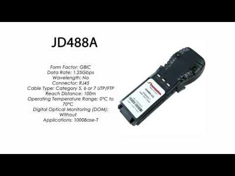 JD488A | HP Compatible 1000Base-T RJ45 100m GBIC