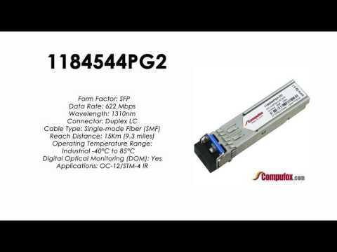 1184544PG2  |  Adtran Compatible OC-12 1310nm 15km SFP