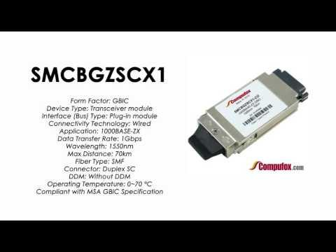 SMCBGZSCX1  |  SMC Compatible 1000BASE-ZX 1550nm 70km GBIC