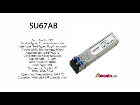 SU67AB  |  Marconi Compatible SFP 622Mbps 1310nm 40km DDM