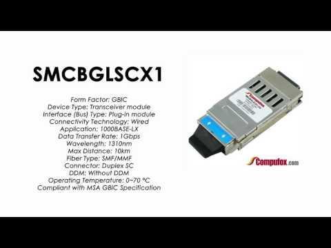 SMCBGLSCX1  |  SMC Compatible 1000BASE-LX 1310nm 10km GBIC