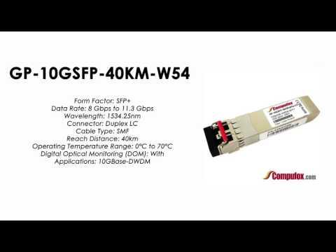 GP-10GSFP-40KM-W54  |  Force10 Compatible 10GBase-DWDM SFP+ 1534.25nm 40km SMF