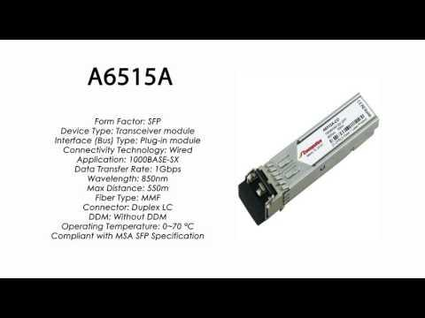A6515A  |  HP Compatible 1000BASE-SX SFP, 850nm, 550m