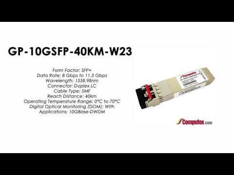 GP-10GSFP-40KM-W23     Force10 Compatible 10GBase-DWDM SFP+ 1558.98nm 40km SMF