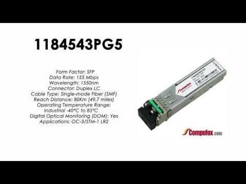 1184543PG5  |  Adtran Compatible OC-3/155Mbps 1550nm 80km SFP