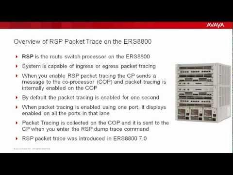 Enabling RSP Trace On The Avaya ERS8800