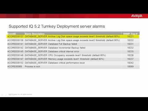 How To Forward Avaya IQ 5.2 Turnkey Deployment Server Alarms Back To Avaya Support
