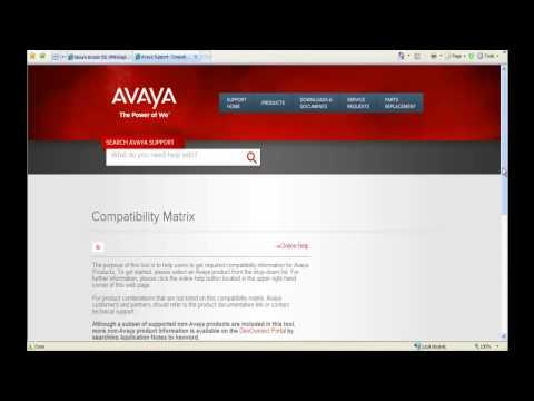 How To Use The Compatibility Matrix For Avaya Aura Midsize Enterprise Solution