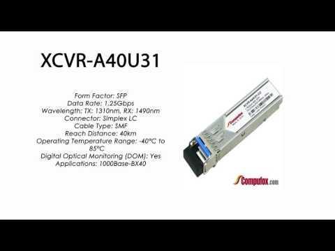 XCVR-A40U31  |  Ciena Compatible 1000Base-BX-U 40km Tx1310nm/Rx1490nm SFP