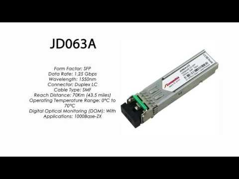 JD063A  |  HP Compatible 1000Base-ZX SFP 1550nm 70km