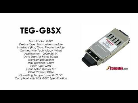 TEG-GBSX  |  TRENDnet Compatible 1000Base-SX 850nm 550m GBIC