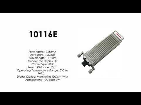 10116E  |  Extreme Networks Compatible 10GBASE-LR XENPAK 1310nm 10km SMF