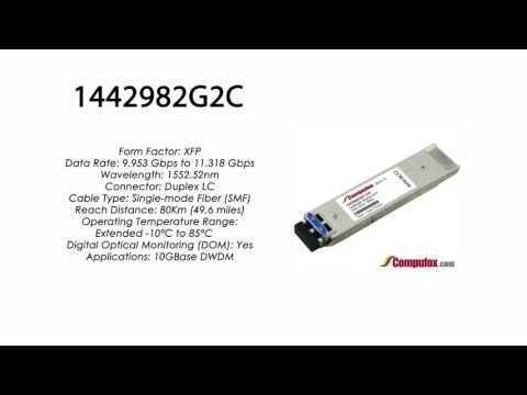 1442982G2C  |  Adtran Compatible 10G DWDM XFP 1552.52nm 80km LC