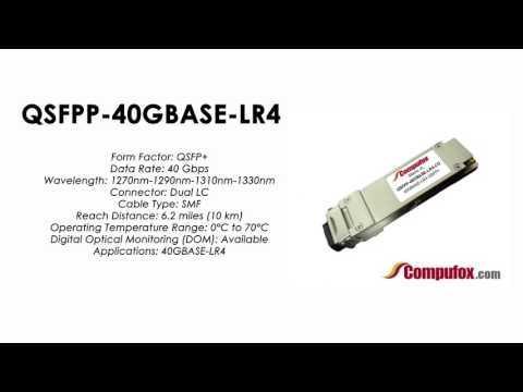 QSFPP-40GBASE-LR4  |  Juniper Compatible 40GBASE-LR4 QSFP+ SMF 10km