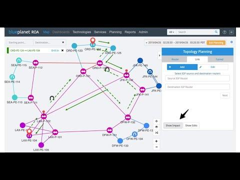 Intelligent Network Planning For Service Providers: Blue Planet ROA Demo