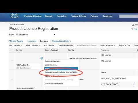 License Rehost From Failed Device - RMA