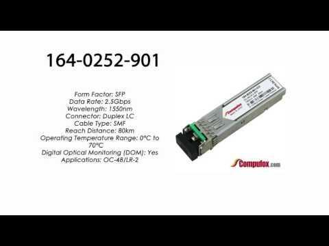164-0252-901  |  Ciena Compatible OC-48/LR-2 SFP 1550nm 80km SMF