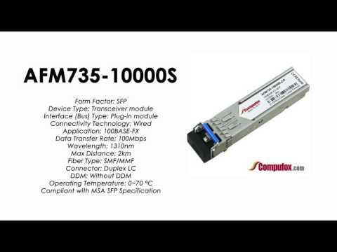 AFM735-10000S  |  Netgear Compatible 100Base-FX 1310nm 2km SFP