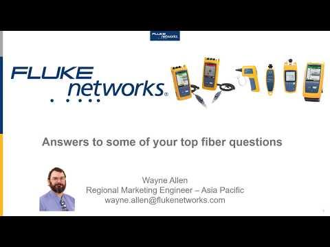 Fiber Questions #1 - Cable And Connector Colors By Fluke Networks