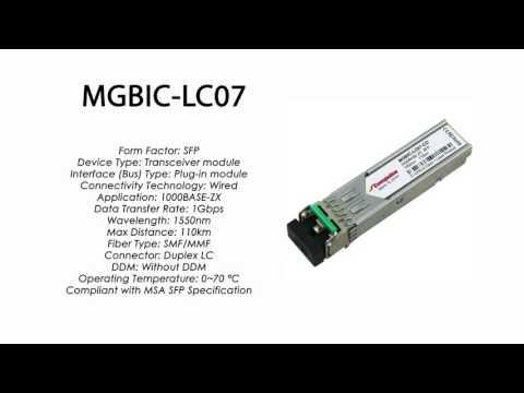 MGBIC-LC07 | Enterasys Compatible 1000BASE-ZX SFP 1310nm 110km SMF