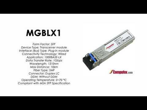 MGBLX1     Linksys/Cisco Compatible 1000Base-LX 1310nm 10km SFP