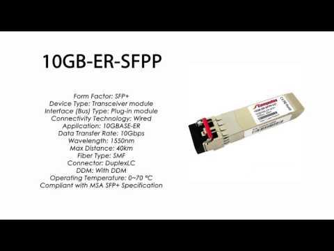 10GB-ER-SFPP  |  Enterasys Compatible 10GBASE-ER  SFP+ 1550nm 40km SMF