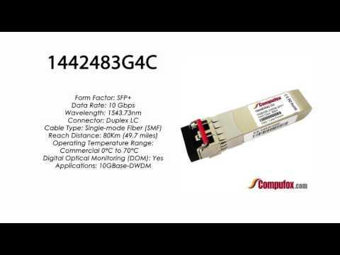 1442483G4C  |  Adtran Compatible 10GBase-DWDM 1543.73nm 80km SFP+