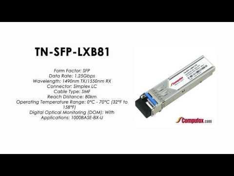 TN-SFP-LXB82   Transition Compatible 1000BASE-BX SFP 1550nmTx/1490nmRx SMF 80km