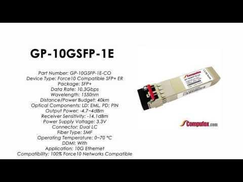 GP-10GSFP-1E  (Force10 100% Compatible Optical Transceiver)