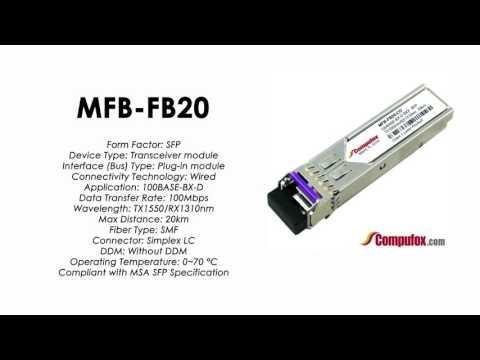 MFB-FB20  |  Planet Compatible 100Base-BX Tx1550nm/Rx1310nm 20km SFP